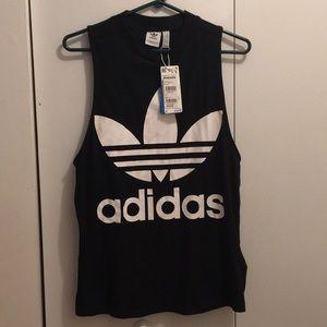 Black Adidas Muscle Tank Top